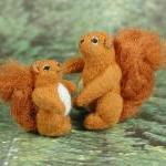 Tiny FABRIC Red Squirrel Fa..
