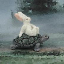 NEW Alice&#039;s Animals Notecard-The Race between the Tortoise and the Hare -Set of 4