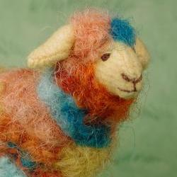 Art Sheep  &quot;Carnival&quot;   Hand-dyed wool