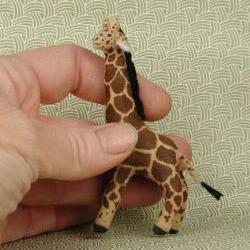 Miniature hand painted fabric GIRAFFE